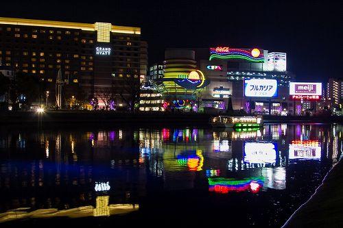 博多中州の夜景